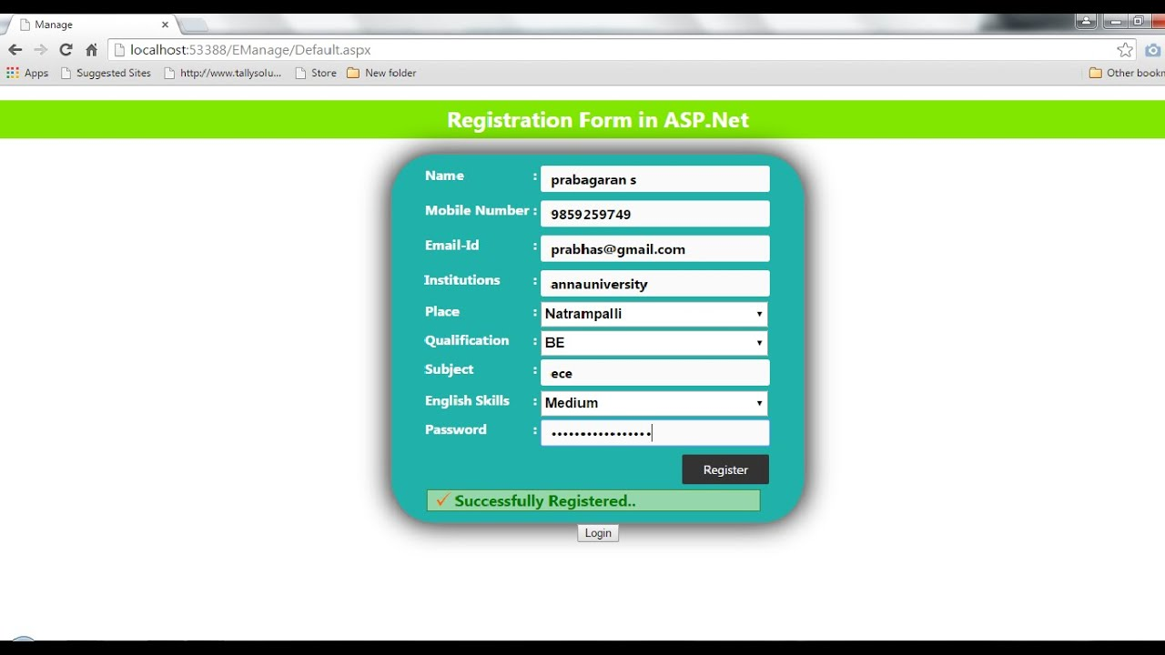 Register form with error validation in asp youtube register form with error validation in asp falaconquin