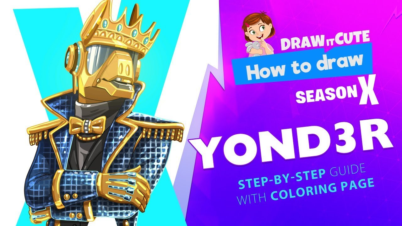 How To Draw Yond3r Fortnite Season 10 Step By Step