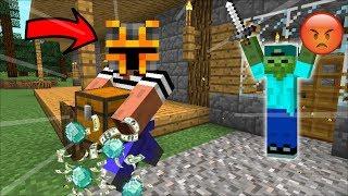 Minecraft MC NAVEED STEALS DIAMOND FROM MARK FRIENDLY ZOMBIE MOD / THIEF!! Minecraft Mods
