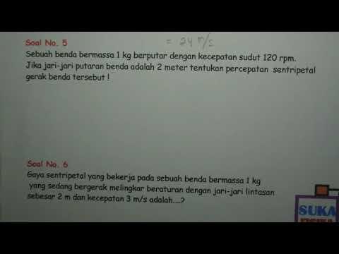 Gerak melingkar (percepatan sentripetal dan gaya sentripetal) -Fisika SMA