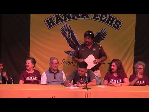 Santiago Garcia signs a letter of intent to play golf at Texas A&M International University