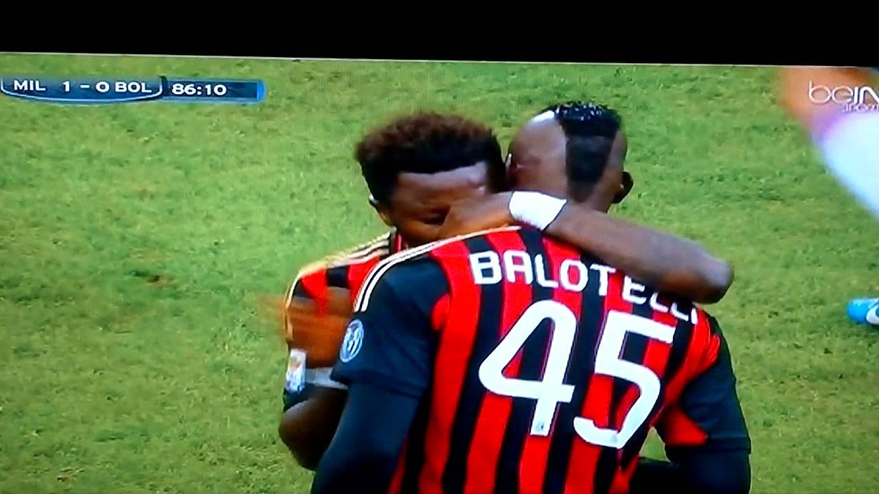 Mario Balotelli's 35 yard GOAL AC Milan vs Bologna 2.14.14 ...