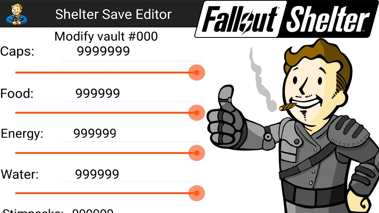 fallout shelter save editor apk android