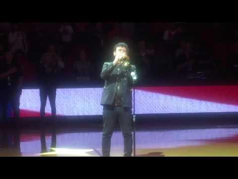 David Longoria Trumpet Plays The National Anthem At Thomas & Mack Center edm Grammys Vegas