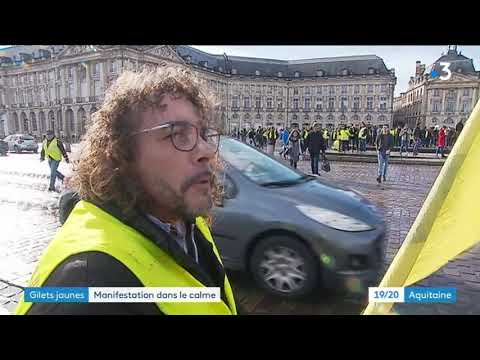 10e jour de mobilisation et de manifestation des GIlets jaunes à Bordeaux