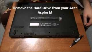 """How to """"Remove your Hard Drive"""" for """"Acer Aspire M"""" M5 583P 6637"""