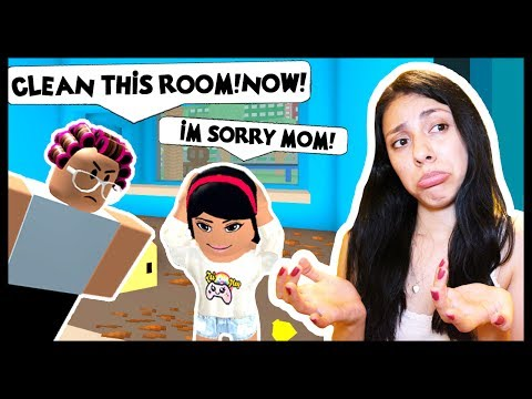 MY MOM IS SO MAD!I'M IN BIG TROUBLE! - Roblox Roleplay - Cleaning Simulator