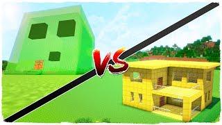 👉 Casa de ORO vs casa de SLIME - MINECRAFT