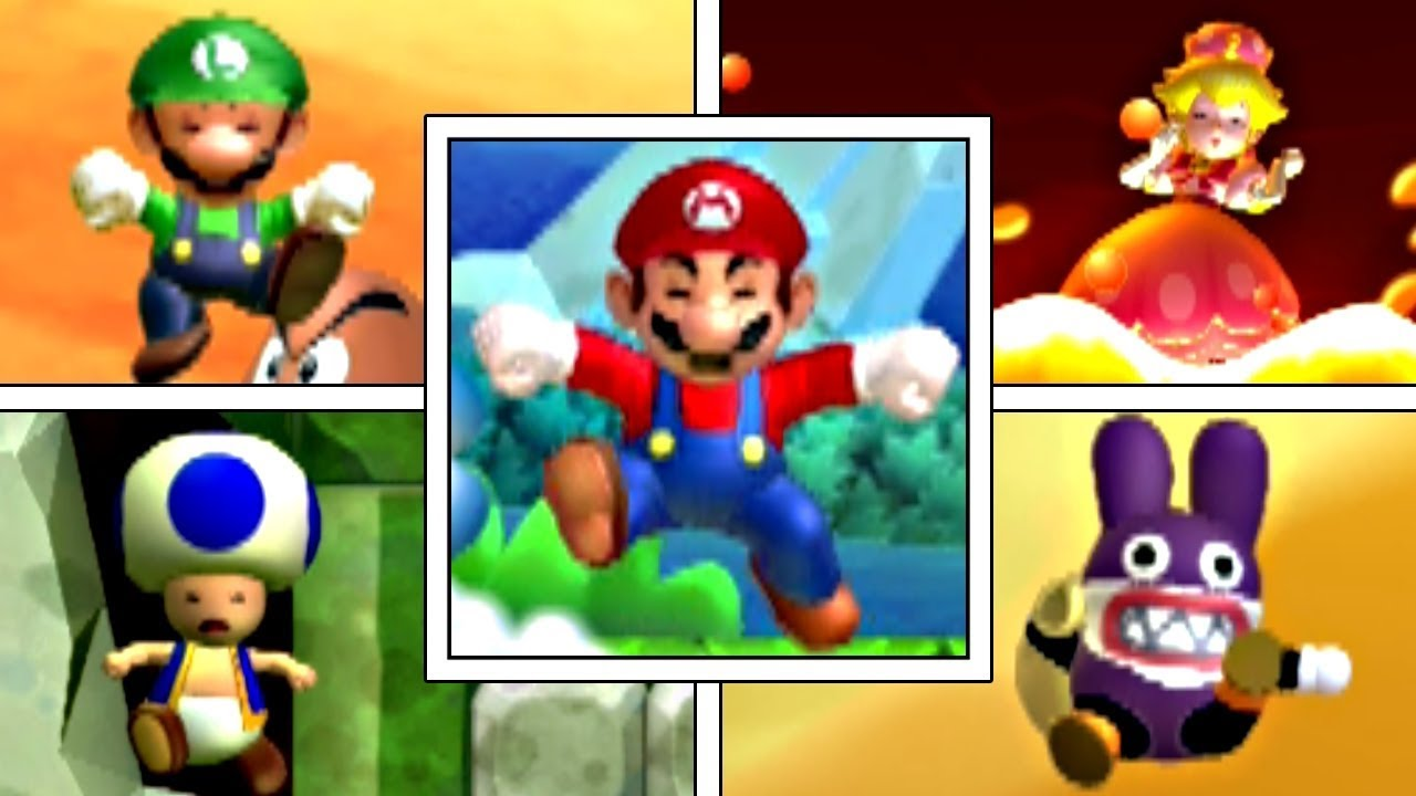 All Character S Death Animations In New Super Mario Bros U Deluxe