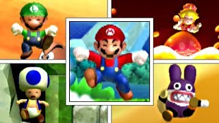 All Character's Death Animations In New Super Mario Bros U Deluxe