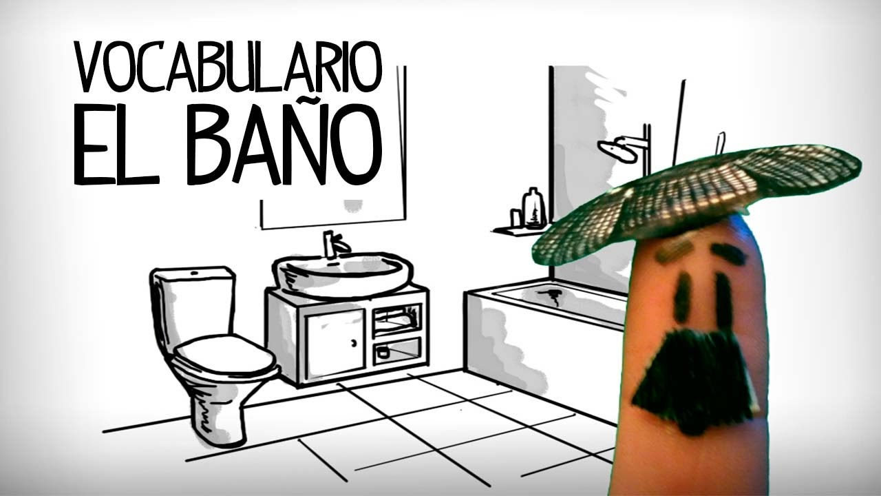 Bathroom vocabulary in Spanish, parts of house - YouTube