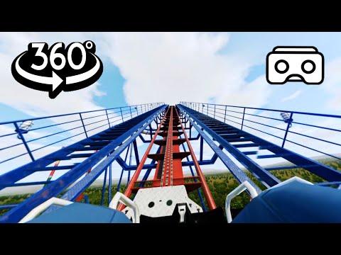 360 video || Roller Coaster Ride Simulation