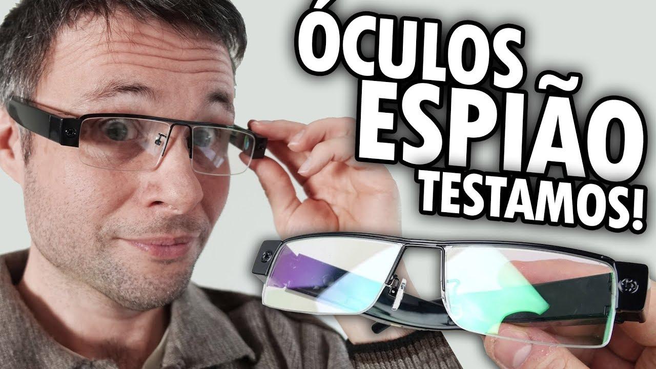 69aafe3c4c1e8 ÓCULOS ESPIÃO UNBOXING E TESTE - Óculos Câmera Eyewear Cam - YouTube