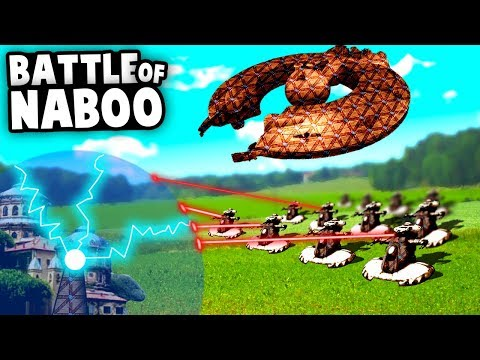 BATTLE Of NABOO! Destroying the DROID CONTROL SHIP! Forts Star Wars Multiplayer Gameplay