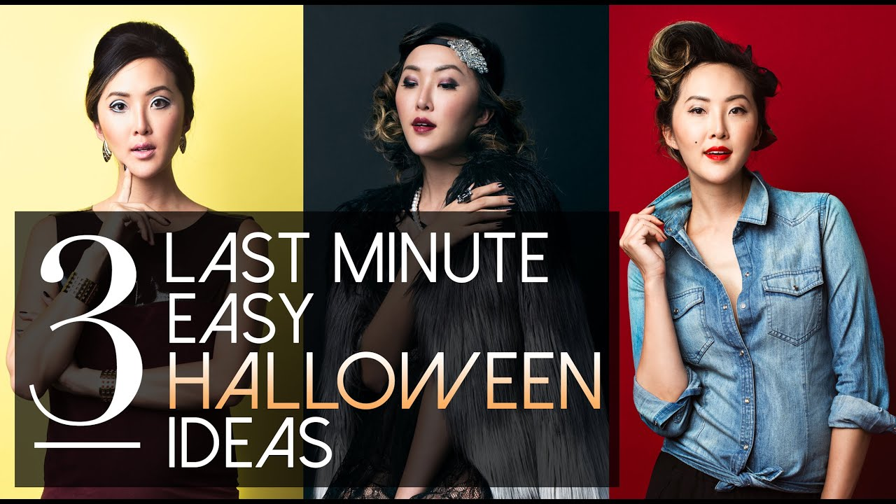 3 last minute easy halloween ideas