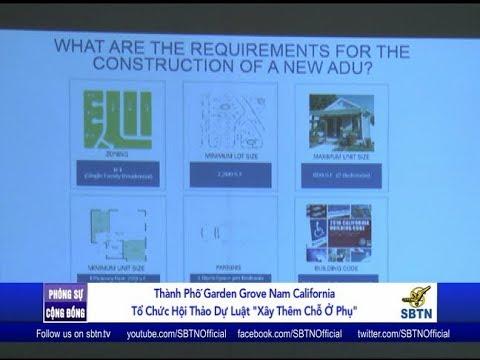 """PHÓNG SỰ CỘNG ĐỒNG: Hội thảo"""" Xây thêm nhà ở phụ"""" tại tp Garden Grove, Nam California"""