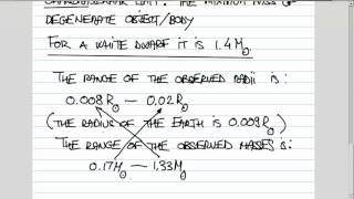 ASTR 1P02 CLIP 15: Degenerate Matter and the Chandrasekhar Mass Limit
