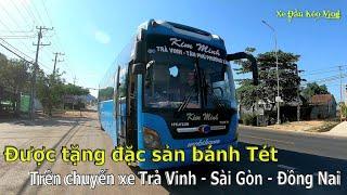 Được tặng đặc sản bánh Tét trên chuyến xe Trà Vinh - Sài Gòn - Đồng Nai | Xe Đầu Kéo Vlog #61