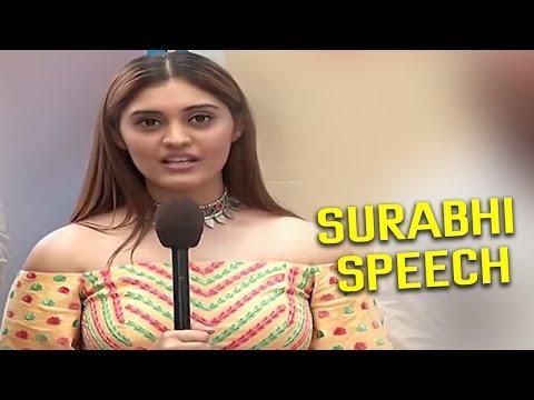 Surabhi Speech At Allu Sirish New Movie Opening || Seerath Kapoor