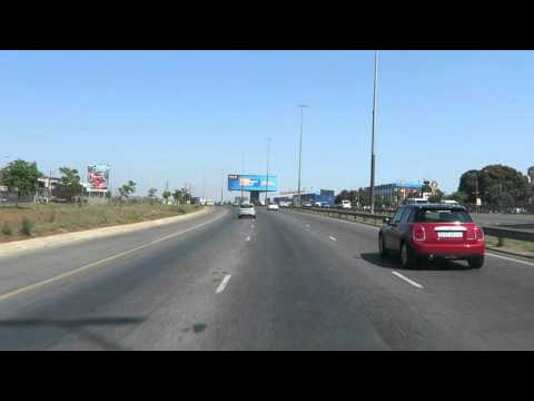 Car ride from airport, Johannesburg, South Africa, 2015-09-29