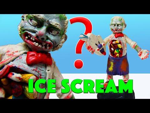 Жуть! Адский МОРОЖЕНЩИК | Лепим зомби мороженщика из игры Ice Scream | Лепка Хоррор Шоу