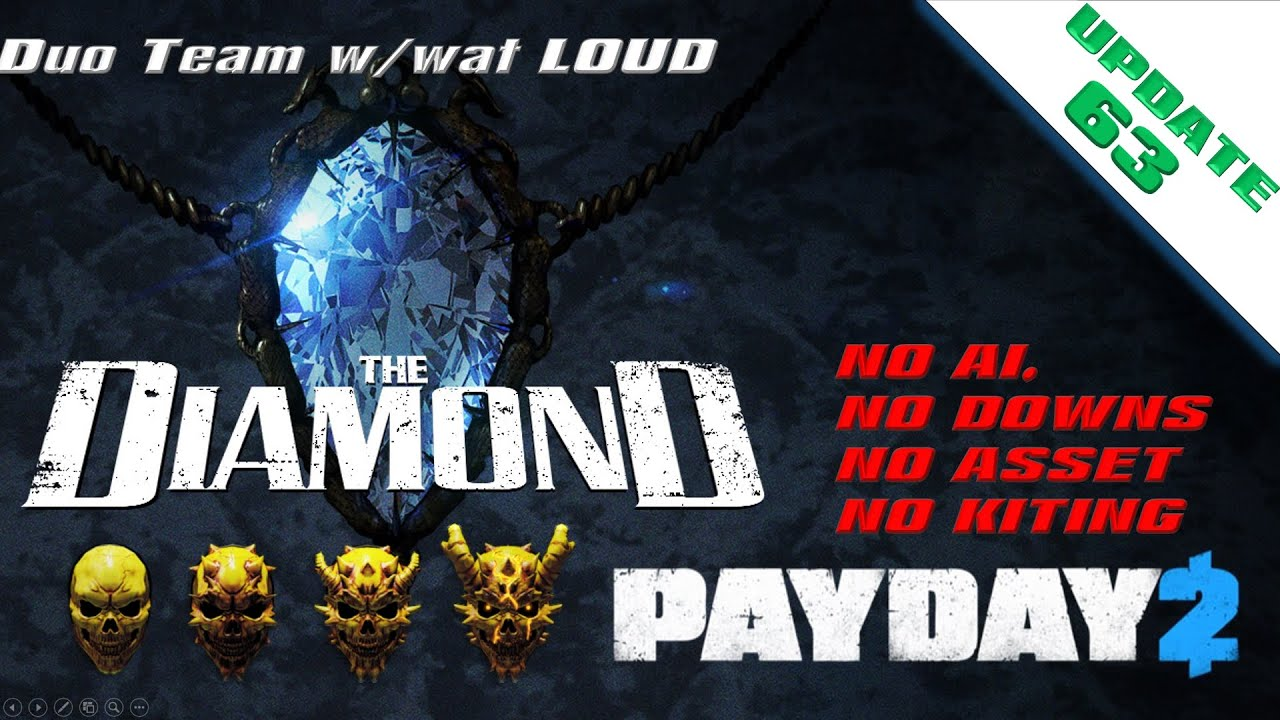 Payday 2 : The Diamond Loud Death Wish DUO w/wat (The Annihilator Build) No(downs/assets/AI/Kiting)