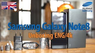 Samsung Galaxy Note8 Unboxing english 4k