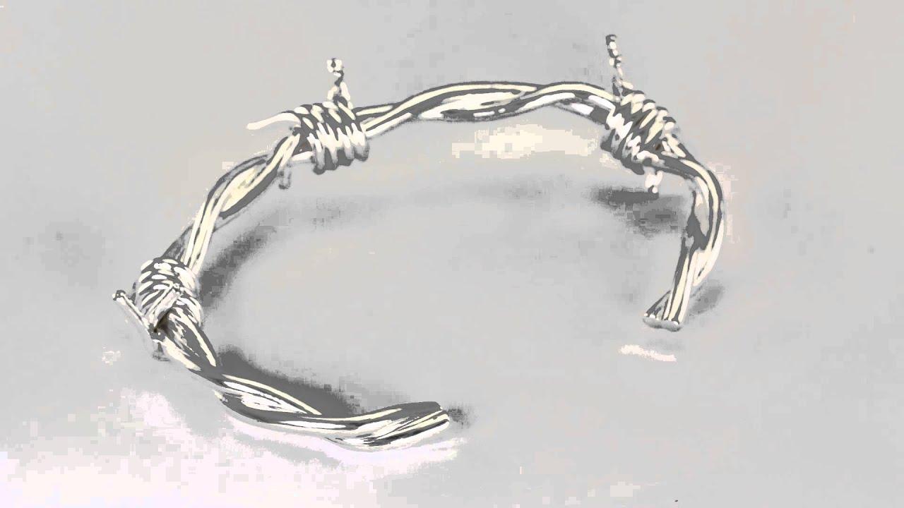 Barb Wire Bracelet - YouTube