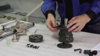 Розбирання і промивання гідромотора серія MR100