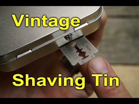 Shaving Travel Tin -  DIY Altoids Style