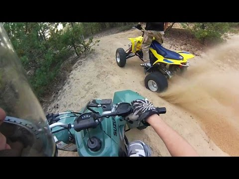 2012 Suzuki ltz400 LE Limited Edition + 2010 Suzuki QuadSport LTZ 400 yellow | ATV Quad Bike riding