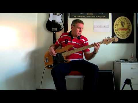 T-Bone Walker-Backing track-Stormy monday-bass cover