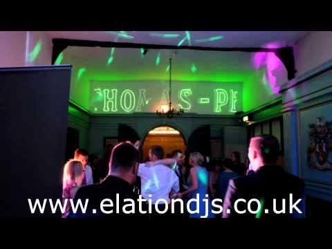 Elation AV - Laser Hire UK - Scrolling Green Laser Text