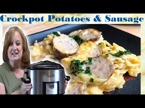CROCKPOT POTATOES & SAUSAGE CASSEROLE | 5 Ingredient Meal
