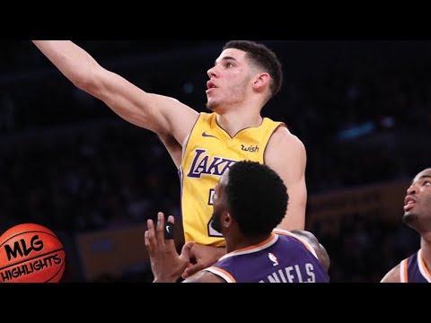 Lonzo Ball (6 pts, 6 ast, 5 stl, 1 blk) vs Suns / Week 5 / Lakers vs Suns / 2017 NBA Season