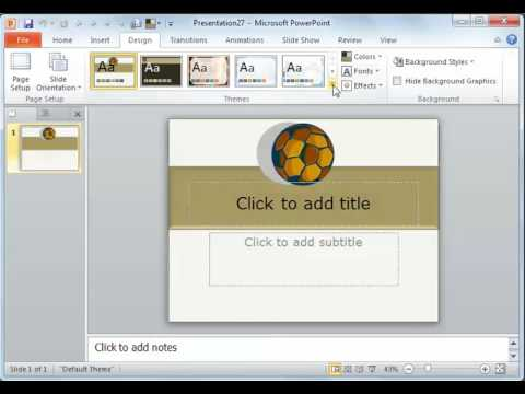 Powerpoint 2010 setting the theme as default youtube powerpoint 2010 setting the theme as default toneelgroepblik Images