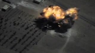 Уничтожение объектов ИГИЛ в Сирии крылатыми ракетами Х-101 с ракетоносцев Ту-95МС