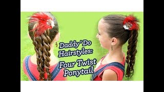 Four Twist Ponytail | Daddy 'Do Hairstyles | Cute Girls Hairstyles