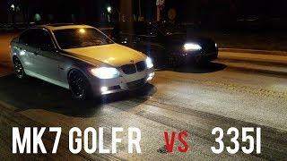BMW 335i vs MK7 Golf R vs Focus RS