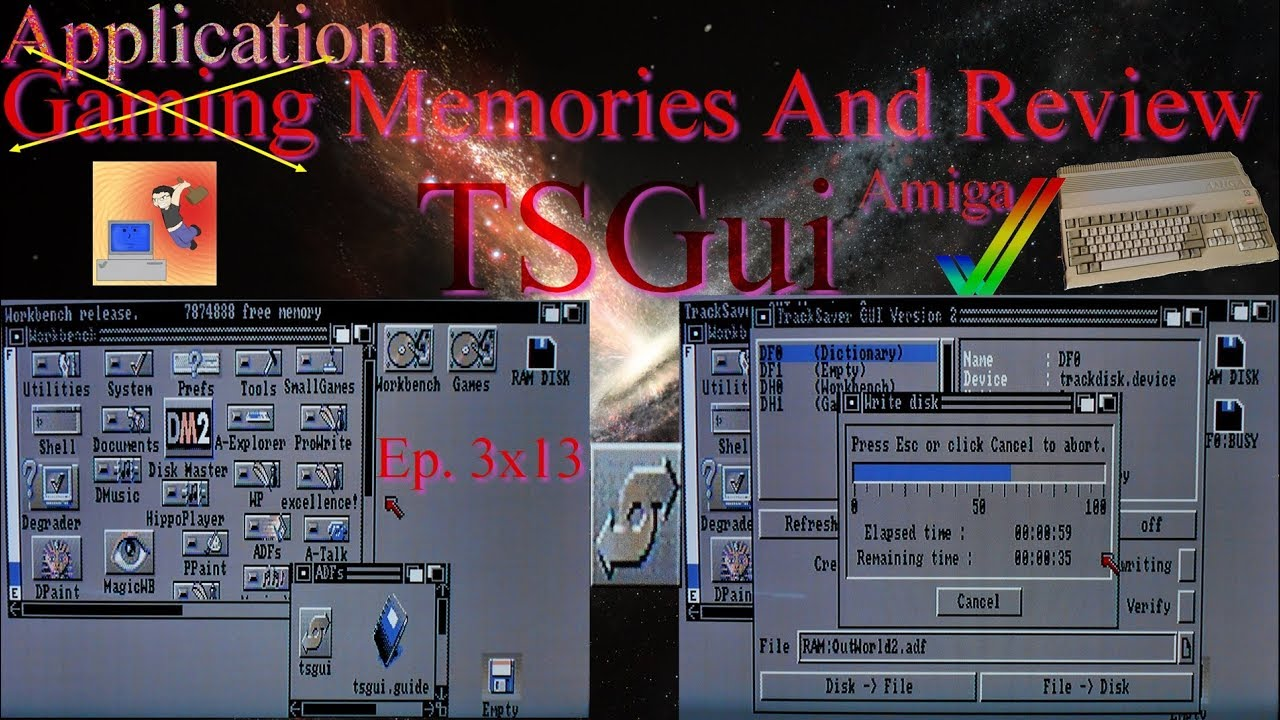 TSGui - A Workbench 1 3 ADF GUI - Amiga - Gaming (Application) Memories And  Review
