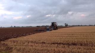 Challenger MT775E 'Stealth' ploughing on Lincolnshire