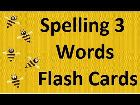 Spelling  3 Letter Words Flash Cards For Babies and Toddlers