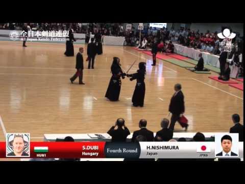 (HUN1)S.DUBI -KK H.NISHIMURA(JPN6) - 16th World Kendo Championships - Men's Individual_4R