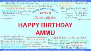 Ammu   Languages Idiomas - Happy Birthday