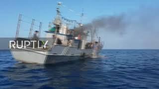 Смотреть видео Происшествие. Россия: 64 северокорейских рыбака задержаны в исключительной экономической зоне России онлайн