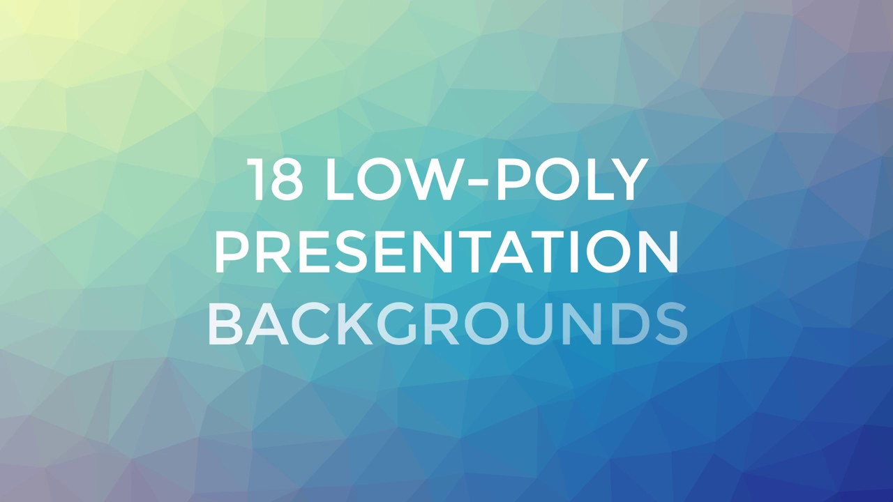 low poly presentation backgrounds youtube
