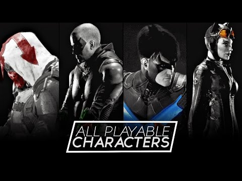 Batman Arkham Knight - All Playable Characters Including Joker/Harley/Red Hood (Gameplay)