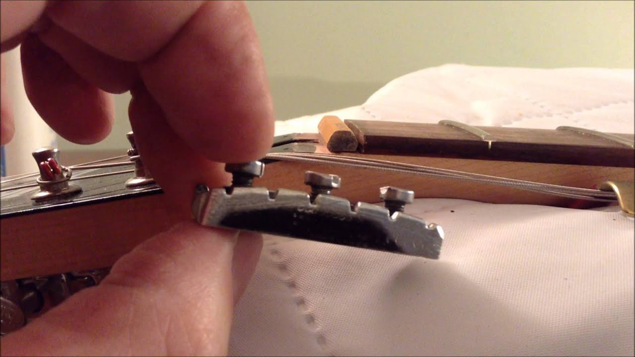 tremolo locking nut customize and repair youtube