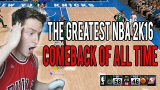 THE GREATEST COMEBACK IN NBA 2K16 HISTORY!
