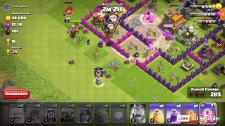 2 atacs on clash of clans and farm in the forest last day